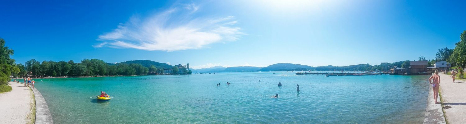 one day -> Attersee Taken Photos Summer Swimming Austria Travel Panoramic Photography Panorama Panoramic View EyeEm Best Shots - Landscape