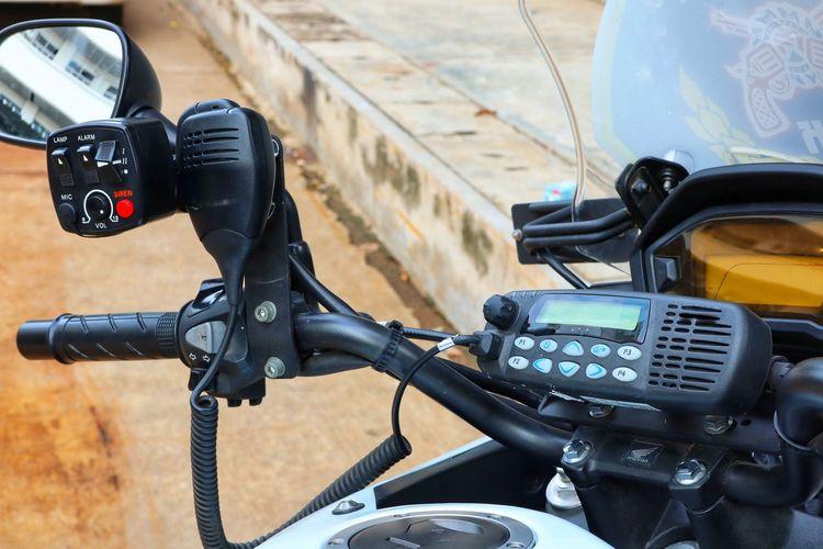Biker City Motorcycle Speedometer Stationary Land Vehicle Bicycle Handlebar Close-up