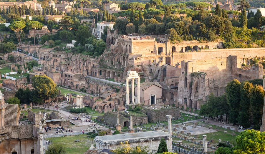 Roman forum in city