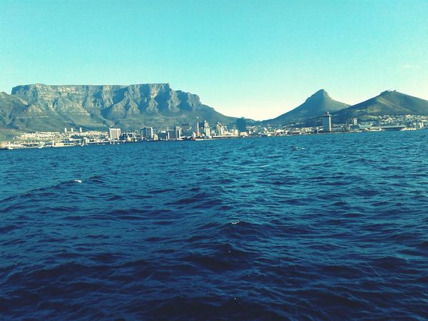 Blue Sea Mountain Outdoors Water Rippled Beauty In Nature Cityscape Nature Clear Sky V&A Waterfront Lions Head, Cape Town Table Mountain View Signal Hill