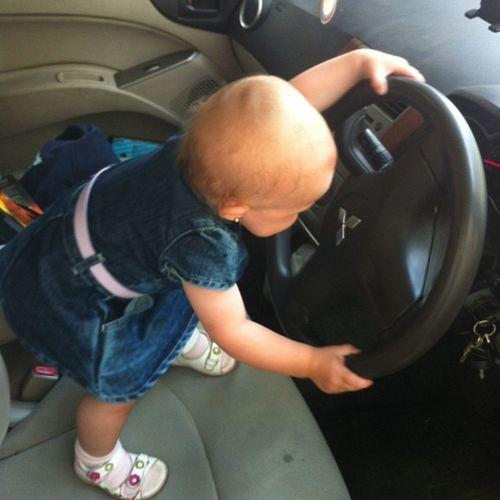 Первые опыт вождения!!