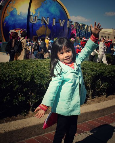 Playing in Universal Studios Osaka Japan Real People Standing Happiness Lifestyles Leisure Activity Casual Clothing Smiling Enjoyment Fun Outdoors Day Looking At Camera Childhood People An Eye For Travel The Portraitist - 2018 EyeEm Awards