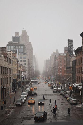 foggy new york