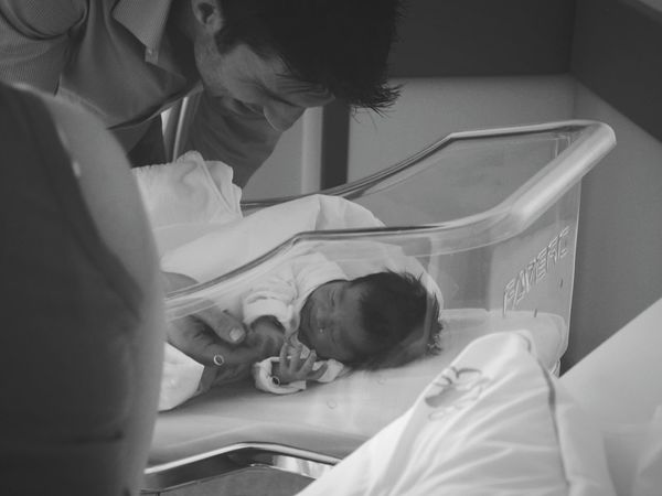 Fatherhood Moments Unforgettable Moment Newborn New Life My Love My Life Family Power Innocence My Daughter Togetherness Connection Firstborn Pure Love Family Matters Babygirl Best Moment Memories Baby Little Girl Love Family Sleeping Blackandwhite Black & White