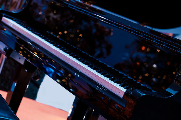 Close-up of grand piano