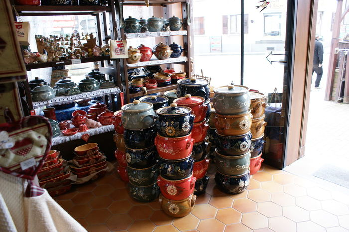 Arrangement Business Display For Sale French Pottery French Pottery Factory Large Group Of Objects Market Market Stall Order Pottery Pottery Factory