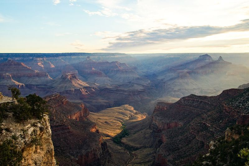 North Rim in the morning👍 Road Trip Travel Sunrise Grand Canyon National Park Beauty In Nature Scenics - Nature Mountain Sky Tranquility Tranquil Scene Cloud - Sky Nature No People