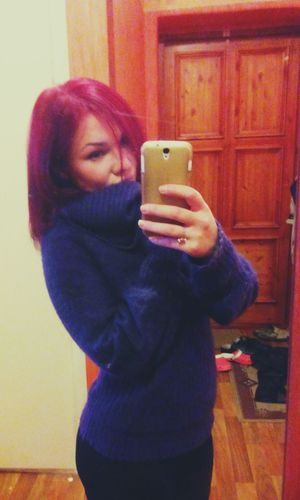 Colors Cold Cold Winter ❄⛄ Sweater Red Redhead