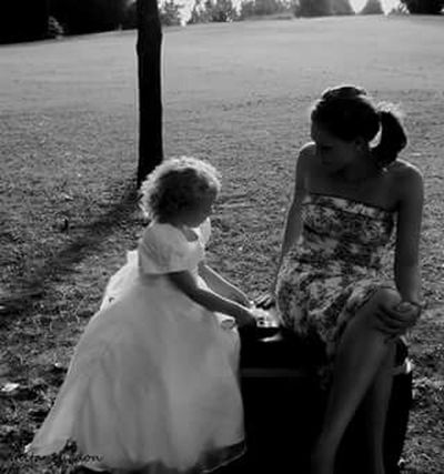Black And White Photography Beautiful Girls  The Human Condition That Moment Girl Talk Sweet Memories Mother And Daughter The Wedding Guests The Flower Girl