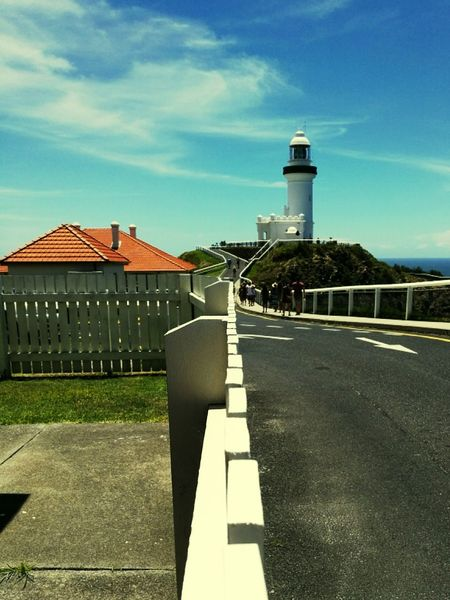 Byron bay lighthouse Outdoors Sky Architecture No People Day NSW Australia Australia Byron Bay Lighthouse Byron Lighthouse Byron Bay Byronbay Close-up Built Structure Architecture Fences & Beyond Fence Post Fence