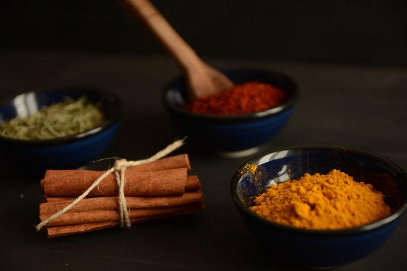 Kitchen Darkfood Cinnamon Cinnamonrolls Saffron Crocus Colchicum Red Peppers Thyme Napkin Woodenspoon Spices Napkins Wooden Spoon Dark