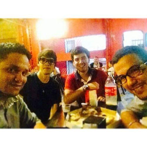 Sábado com o melhor amigo e irmão @paulomatheus1010 e os novos amigos recém chegados do Amapá, Ricardo e Wagner .