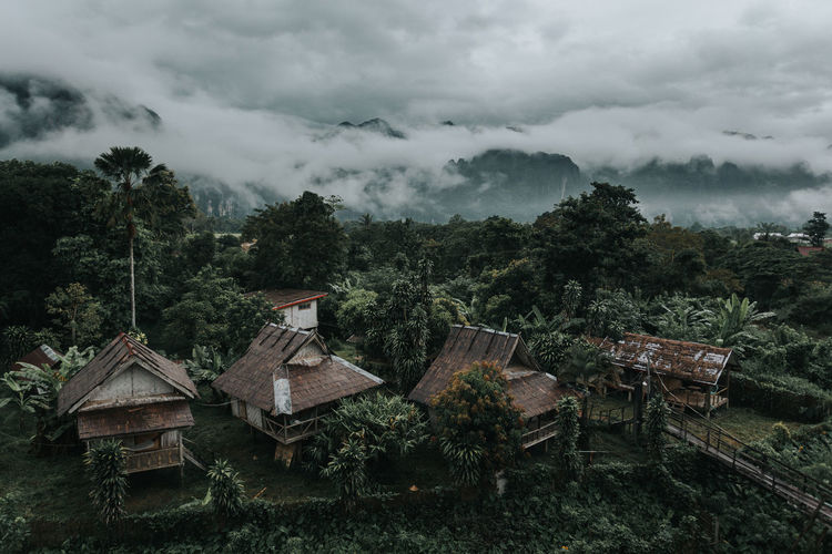 Beautiful small village in vang vieng