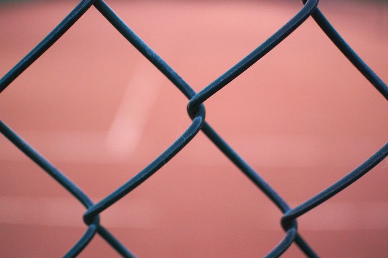 Backgrounds Barrier Basketball - Sport Boundary Chainlink Fence Close-up Court Crisscross Day Fence Focus On Foreground Full Frame Metal Nikonphotography No People Outdoor Photography Outdoors Pattern Protection Safety Security Sport Sports Tennis Tennis Court