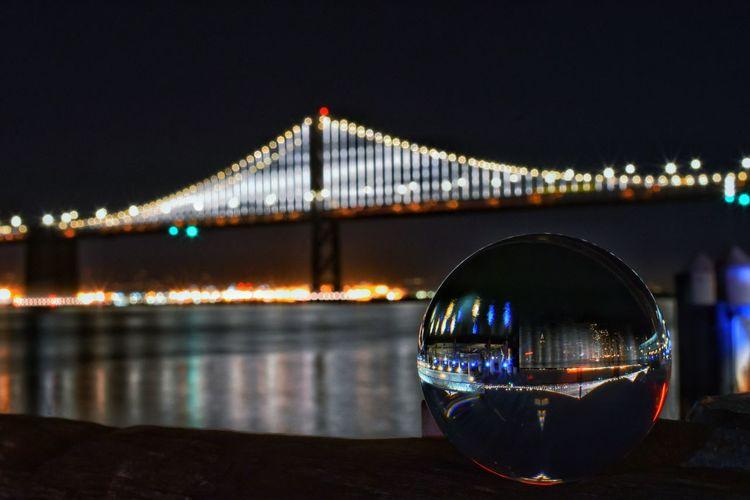 San Francisco - Oakland Bay Bridge... 🌉 Yongnuo 35mm Nikon Nikonphotography City Cityscape Illuminated Water Modern Bridge - Man Made Structure Business Finance And Industry Sky Architecture Building Exterior Arch Bridge Arch Bridge Light Trail Long Exposure