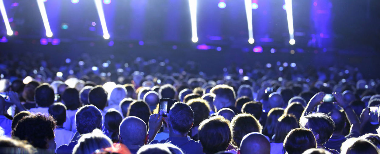 Group of people at music concert