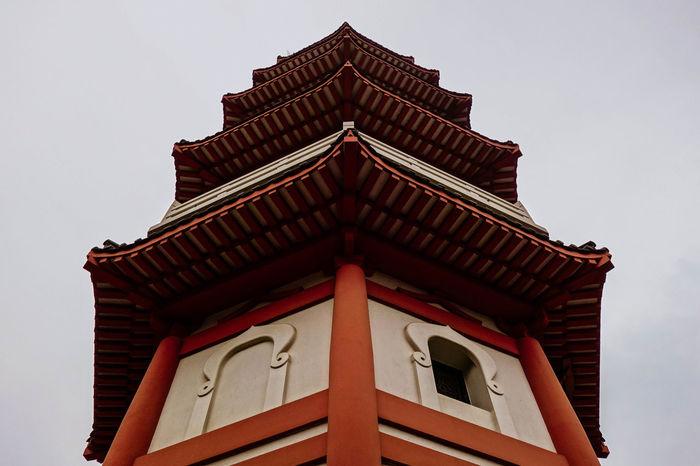 Hong Kong Shatin Old Architecture Budhist Budhism Tower Monastery Chinese Rural Red Brick Tai Wai