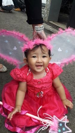 One Girl Only Child Girls Pink Color Aluna Melody Azahra SuperGirl! ✌ My Baby Angel Wings