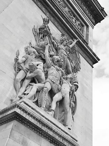 Liberte. Egalite. Fraternite. Photowalking Paris Architecture Bw_ Collection Eyeem Philippines Blackandwhite Monochrome Historical Sights Looking Into The Future