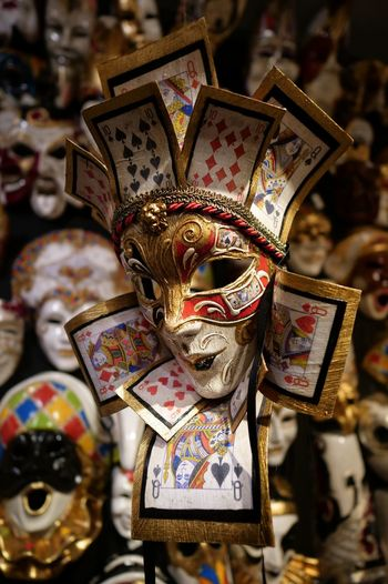 Venezia Italy Multi Colored Souvenir Arts Culture And Entertainment Ornate Close-up Carnival - Celebration Event Venetian Mask For Sale Mask Shop Carnival