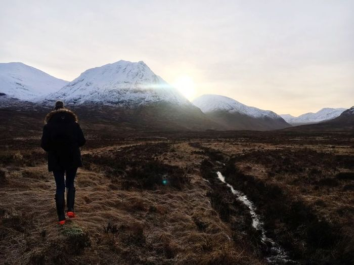 Scotland Glencoe Mountain Resort Glencoe Home Happy Love Glencoe Scotland Mountain One Man Only Rear View Only Men One Person Adults Only Adult Mountain Range Adventure Travel Destinations Nature Outdoors Scenics Landscape People Beauty In Nature