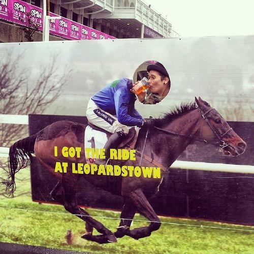 riding the horse backwards. Studenthorserace