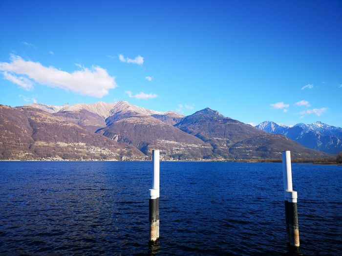 Lake Lake Como Lago Di Como Water Mountain Sea Blue Sky Mountain Range Cloud - Sky Shore Countryside