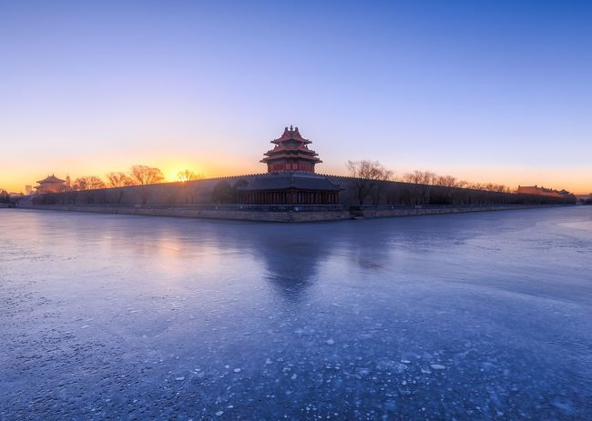 Miles Away Architecture Sunset Travel Destinations Architecture Sky Blue Travel Dusk Tourism Beijing, China Beijing Summer Palace Ice Scenics Reflection Dome Cloud - Sky Cityscape No People Pavilion Water Building Exterior Cold Temperature
