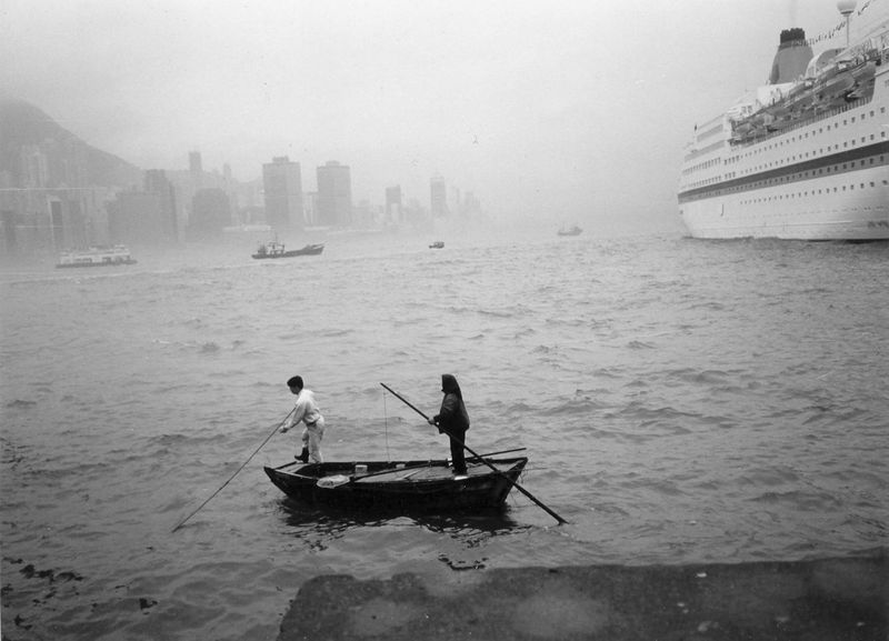 Bay Grayscale Harbor People And Boat Hong Kong Harbour People And Places Sailing Small Boat People And Places. Takeover Contrast Monochrome Photography Travelling Dinghy What Who Where Enjoy The New Normal Chance Encounters The City Light