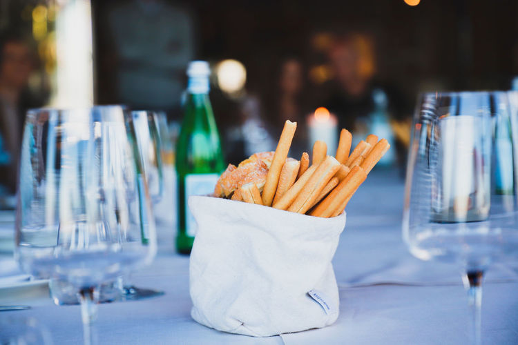 Food on table at restaurant