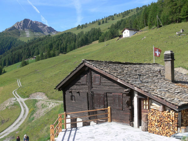 liddes,valais,swiss Agricultural Building Architecture Building Exterior Built Structure Chalet Cold Temperature Cottage Day Grass House Landscape Mountain Mountain Range No People Outdoors Residential Building Sky Snow