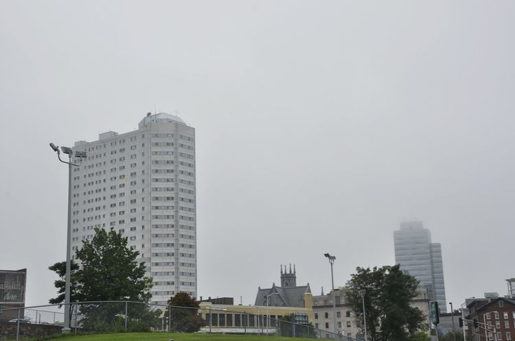 Worcester Worcester Ma Small City Massachusetts Fog Foggy Fog Over The City Morning Mist White On White