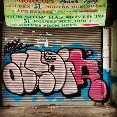 All night observe in runnin'. Anoir NC Lazyguys Graffitivietnam Saigon bombing