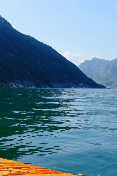 Beauty In Nature Blue Calm Day Floating Piers Fujifilm Hill Idyllic Lago D'Iseo Lake Landscape Majestic Mountain Mountain Range Nature Outdoors Remote Rippled Scenics Sky Tourism Tranquil Scene Tranquility Travel Destinations Water