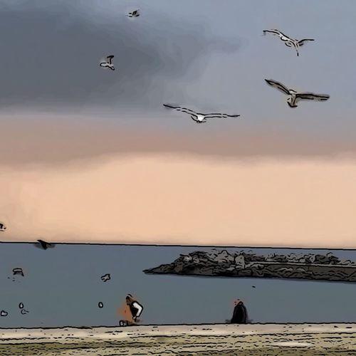 Yeşilyurt Sahili 💙 Hello World Taking Photos Enjoying Life Nature Seaside Photography Sunset #sun #clouds #skylovers #skyporn #sky #beautiful #sunset #clouds And Sky #beach #sun _collection #sunst And Clouds Hi! Beatiful Photowork Colors