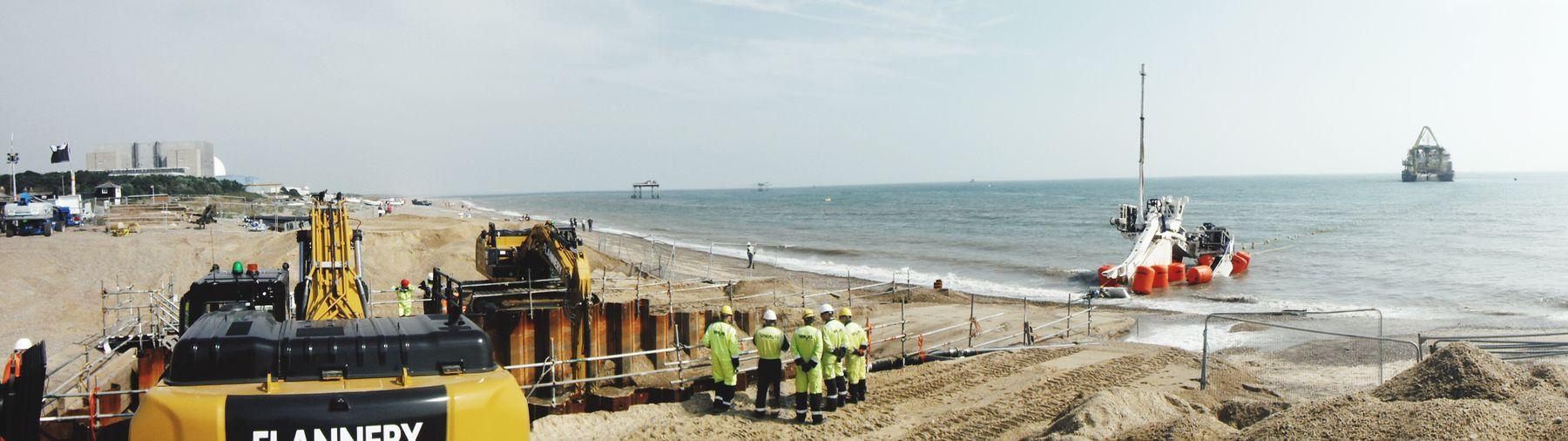 Cable installation works in the Galloper Wind Farm Nautical Vessel Coastline First Eyeem Photo