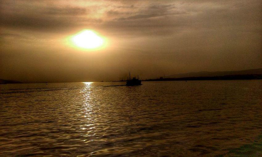 #boat #PASSENGERS #sea #SUN SUN SUN #sunset #TURKEY/Kocaeli