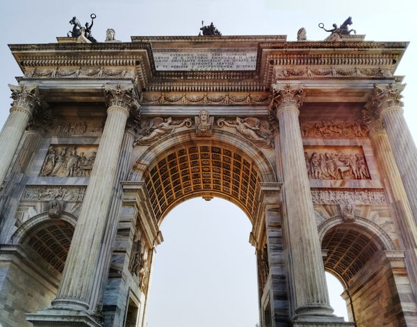 A walk to Miilano Ancient Romans Arco Della Pace Marble Marbledstone Milan,Italy Monument No People Parco Sempione The Architect - 2017 EyeEm Awards