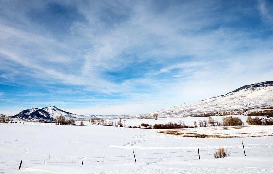 Distance Snow Winter Cold Temperature Landscape Ice Frozen Cloud - Sky Nature Beauty In Nature Mountain Outdoors Reimerpics Colorado Green Mountain Reservoir Heeney Travel No People