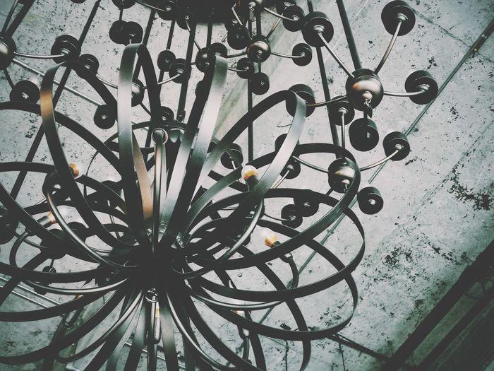 Full frame shot of metal railing against wall
