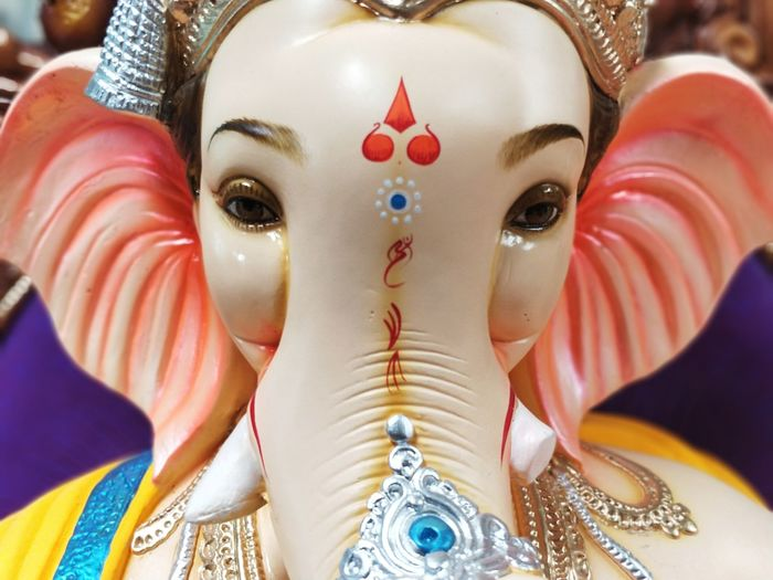 Close-up of lord ganesha idol