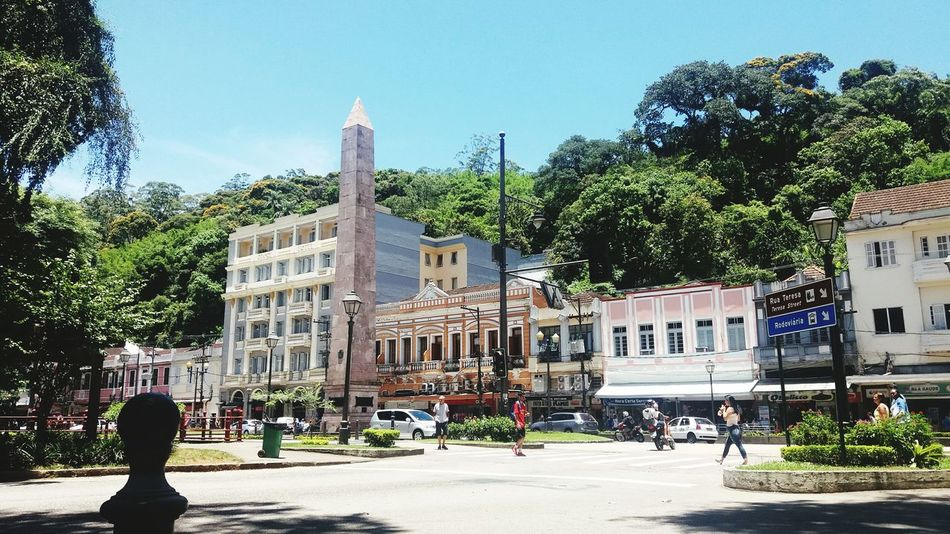 Street Photography Cityscape Buildings City Life Petrópolis Petrópolis Rj Brazil Brazilian Gallery Brazil ❤ Architecture Built Structure Building Exterior Tree Outdoors Day Sky People City