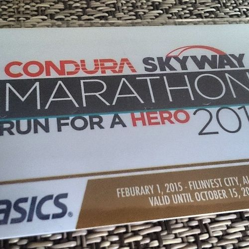 They say Skyway is only for Cars.. I say on 2015 it will be for runners also... ??? Conduraskywaymarathon2015 Condura Skyway Runforahero conduramarathon2015 run fitness