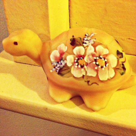 Vanilla Sky Fenton Glass Collection Knick Knacks Turtle