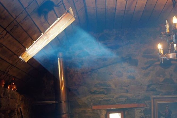 Wood smoke and window light- Scotland Illuminated Indoors  Architecture No People Low Angle View Built Structure Day Wood Smoke light through window Light Beams Light And Shadow Port Appin West Coast Scotland Uk
