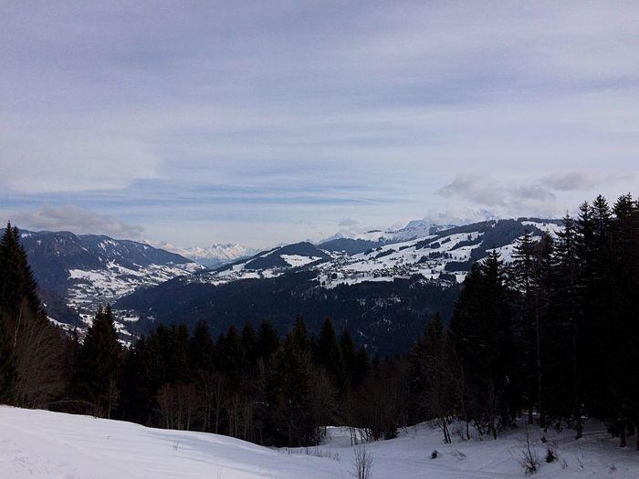 Snow Mountains Montblanc Savoie