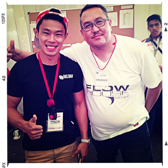 Fan photo with Karting Champion of the Philippines Check This Out That's Me Cheese! Tyson Sy
