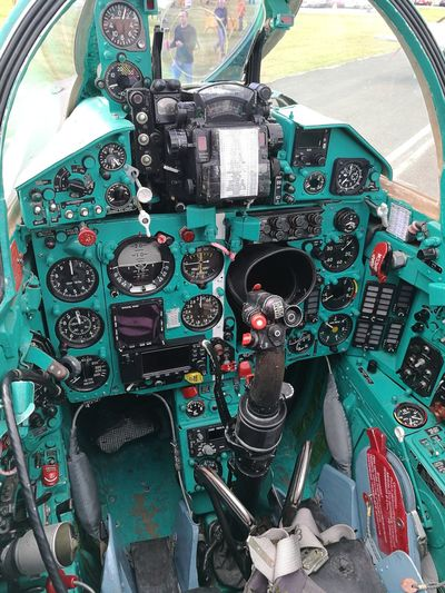 AirPlane ✈ Close-up Cockpit Complexity Day Gauge High Angle View Indoors  MIG-21 No People Technology Topgun