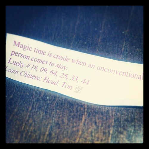 Magic time is creale! CREALE! ...wait...wut? Fortunes  Lostintranslation