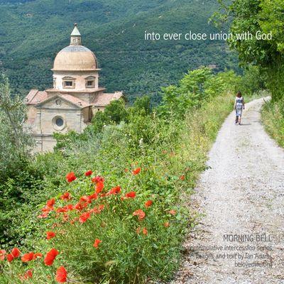 No14 in series 'in our prayers (contemplative intercession)' Stillness Prayer Contemplation Cortona Chiesa Church Shrine Path Presence Poppies